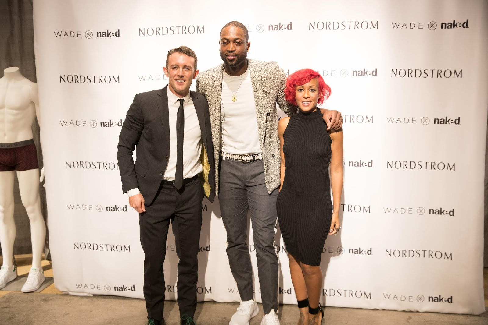 With Dwyane Wade and Calyann Barnett at a Nordstrom Launch Event
