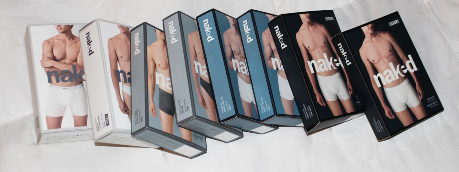 an assortment of naked underwear boxes